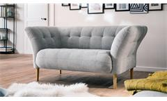 Loveseat BIG APPLE Sofa Loungesofa Couch Stoff silber grau 160x97 cm