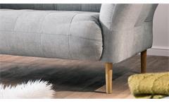 Loveseat Big Apple Sofa Loungesofa Couch 2-Sitzer in Stoff silber grau 160x97 cm