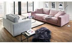 Big Sofa High Loft Megasofa Loungesofa Couch 2-Sitzer in Stoff rosa 290 cm