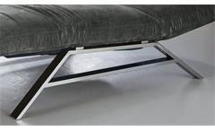 Relaxliege Riviera Polsterliege Liege in Velour Stoff grau motorisch verstellbar