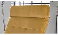Polsterliege Relaxliege Liege Riviera in Velvet Stoff gold motorisch verstellbar