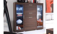 Highboard MESTRE Sonoma Eiche dunkel inkl. Beleuchtung