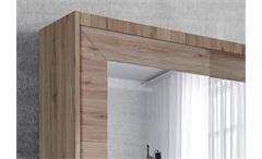 Schwebetürenschrank Alfa Kleiderschrank Schrank San Remo Eiche hell 180 cm
