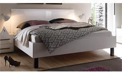 Bett Harmonys Schlafzimmer Kopfteil weiß Hochglanz 180x200 cm