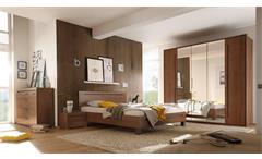 Schlafzimmer Tripoli Kleiderschrank Bett Nachtkommode Michigan Walnuss 4-teilig