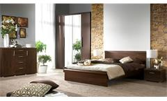 Futonbett Mestre Bett Bettgestell in Eiche Sonoma dunkel mit Kopfteil 180x200 cm
