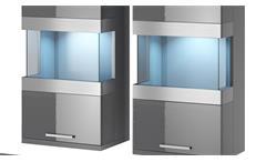 Wohnwand Maxi EA 5-teiliges Set anthrazit matt Hochglanz Wohnzimmer Anbauwand