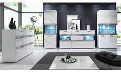 Lowboard Maxi EA weiß matt Hochglanz Front TV-Element mit Schubkästen 180