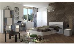 Bett Privilegio Futonbett Einzelbett Futon in weiß hochglanz lackiert 90x200 cm