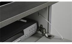 Lowboard Privilegio 2-türig Hochglanz weiß Beton Optik 150 cm TV-Möbel HiFi-Regal