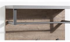 Wandpaneel Lafabrica Wandgarderobe Garderobe Alteiche Beton und Metall anthrazit