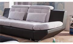Sofagarnitur Eternity Sofa Polstermöbel in hellgrau und schwarz