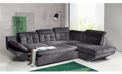 Ecksofa Eternity Wohnlandschaft Sofa Polsterecke in anthrazit mit Bettfunktion