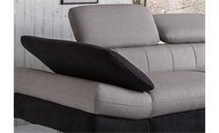 Ecksofa Solution Sofa Wohnlandschaft sand grau schwarz Bett Arm- und Kopfteilfunktion