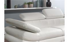 Ecksofa Solution Sofa Wohnlandschaft in weiß mit Arm- und Kopfteilfunktion