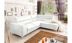 Ecksofa Spectacle Sofa Wohnlandschaft Polsterecke Eckgarnitur Polstermöbel weiß