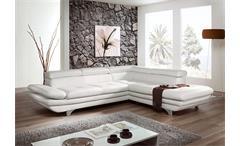 Ecksofa Enterprise Sofa Wohnlandschaft Polsterecke mit Funktion in weiß