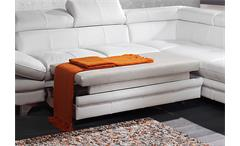 Ecksofa Enterprise Sofa Wohnlandschaft Polsterecke Bett Kopfteilfunktion weiß