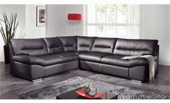 Ecksofa WILLIAM Polsterecke Sofa schwarz mit Bettfunktion