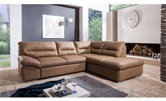 Ecksofa WILLIAM Polsterecke Sofa in Nougat Braun
