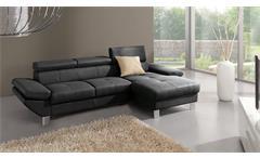 Ecksofa Carrier Sofa Wohnlandschaft Polsterecke in schwarz mit Bettfunktion