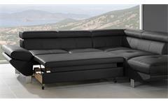 Ecksofa Carrier Wohnlandschaft Sofa Polsterecke in schwarz mit Bettfunktion