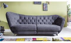 megasofa retro vintage look sofa 3 sitzer microfaser anthrazit. Black Bedroom Furniture Sets. Home Design Ideas
