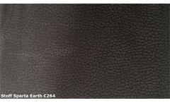 Megasofa Retro Sofa 3-Sitzer Microfaser braun Vintage Look mit Nosagfederung