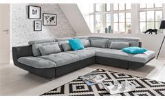 Ecksofa Eternity Wohnlandschaft L Sofa fango grau Kopfteilverstellung 307x255 cm