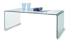 Couchtisch Cecile Glastisch Beistelltisch Klarglas ESG