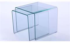 Beistelltisch 2er Set Glas Couchtisch Beistelltisch Klarglas