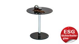 Beistelltisch Flyp ESG Glas schwarz Blumentisch für Flur Wohnzimmertisch