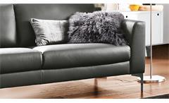 Garnitur 3 2 Sofagarnitur Polstergarnitur Mesa Couch Leder anthrazit Federkern