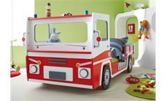 FEUERWEHRAUTO SOS  Kinderbett Feuerwehrbett rot und weiß