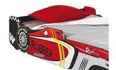 Autobett Rocket Kinderbett Rennwagen Design Spielbett mit RollrostAutobett Rocket Kinderbett Rennwag