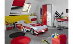 Kinderzimmer Rocket 5- teilig Formel 1 Bett Kleiderschrank Kommode Schreibtisch