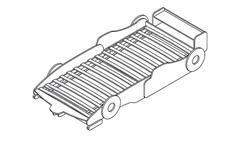 Autobett Woody Kinderbett Bett Rennwagenbett hellblau schwarz weiß 90x200