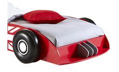 Autobett Bolid Kinderbett Bett Rennwagenbett rot schwarz weiß 90x200
