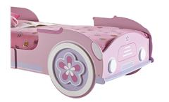Autobett Lady Car Mädchenbett Kinderbett Kinderzimmerbett in rosa weiß 90x200