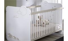 Babyzimmerset Jungle Kinderzimmer Schrank Bett weiß mit Dschungelmotiv