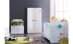 Babyzimmerset BULLES Kinderzimmer weiß blau grün mit Motiv