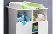 Babyzimmerset Bulles Kinderzimmer Schrank Bett weiß blau grün mit Motiv
