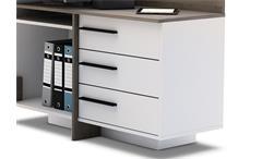 Ecktischreibtisch Thales Schreibtisch Bürotisch Computertisch weiß Eiche dunkel