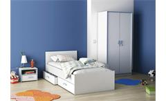 Bettschubkasten 2er Set Switch Bettschubladen in weiß rosa oder blau