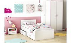Kinderzimmerset SWITCH Kinderzimmer Jugendzimmer weiß rosa oder blau