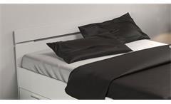 Bett Jugendbett Gästebett Michigan weiß matt mit Schubkästen 140x200 cm