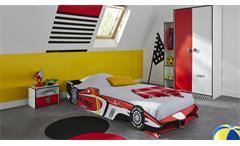 Kinderzimmer Rocket 3-teilig Formel 1 Bett Kleiderschrank Nachttisch