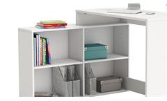Eckschreibtisch Corners Schreibtisch Bürotisch Computertisch Perle weiß