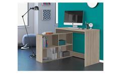 Eckschreibtisch Corners Schreibtisch Bürotisch Shannon Eiche inkl Regal 112x101