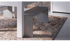 Bank Floride 2er-Set Sitzbank Esszimmerbank Küchenbank in weiß Beton 134x33 cm